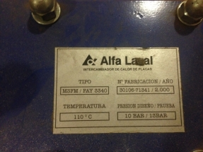 Intercambiador alfa laval